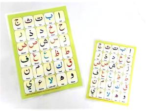 Laminated Arabic Alphabet Qaidah Card A4 & A5 Size (2 Pack - Double Sided Page)