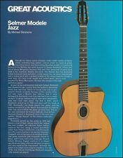 Selmer Modele Jazz acoustic guitar pin-up photo 2000 article print