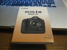 Spanish Canon EOS-1D Mark IV manual Camera Instruction Manual / Booklet (MINT)