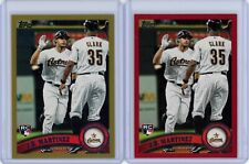 J.D. Martinez 2011 Topps Update Rookie/RC #US186 - 2 card lot - Red Border/Gold