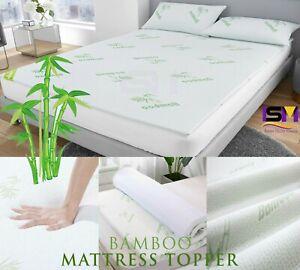 Bamboo Mattress Topper Memory Foam Mattress 2.5cm & 4cm Thick All Size Available