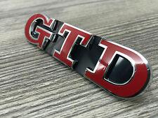 Golf 5 6 7 V VI VII GTD Rot Emblem Schriftzug Kühlergrill Wabengrill