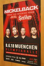 Nickelback Tourplakat/Tourposter 2018 -  Olympiahalle München