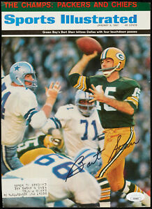 1967 PACKERS Bart Starr signed Sports Ilustrated magazine cover JSA COA AUTO