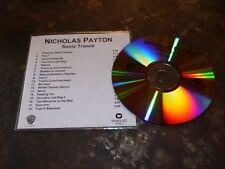 NICHOLAS PAYTON - SONIC TRANCE !!!!!!RARE  CD !!!!!!!!!!!!!