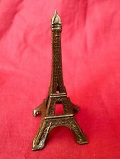 Vintage Eiffel Tower Metal Statue Souvenir Figurine. Made In Italy 60s.