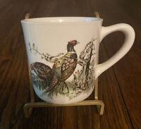 JOHNSON BROTHERS ENGLAND GAME BIRDS Pheasants FLARED MUG Genuine Hand Engraving