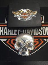 Rare .925 Sterling Harley-Davidson Willie G Skull Belt Buckle Biker 97728-06V