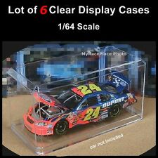 NEW Lot of 6 Small Clear Display Cases for 1/64 Diecast Car Truck NASCAR HW IRL