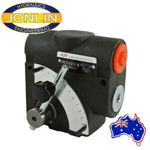 Hydraulic Pressure Compensated Variable Flow Valve - Manual Adjustment - BSP