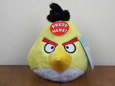 "Angry Birds Yellow Chuck 5"" Plush Stuffed Animal Doll W/ Sound **NEW W/ TAGS**"