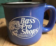 Bass Pro Shops Mug National Headquarters Springfield MO Blue Spatterware Ceramic