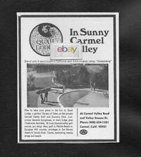 QUAIL LODGE IN SUNNY CARMEL VALLEY,CA GOLFERS GARDEN OF EDEN 1973 AD