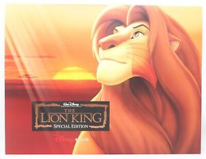 New Vintage Walt Disney The Lion King Special Edition Lithograph Prints Set of 4