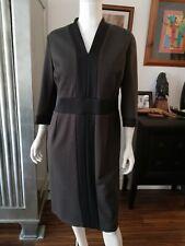 MARINA RINALDI UK 20 (MR 25) Brown Dress