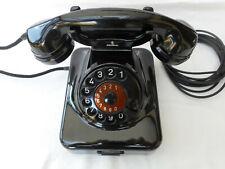 ALTES BAKELIT TELEFON + 1951 + 70 Jahre + W 48 + SIEMENS & HALSKE + volle Funkt.