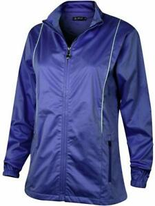 Island Green Full Zip Ladies Water Resistant Golf Jacket French Navy 12,14 16New