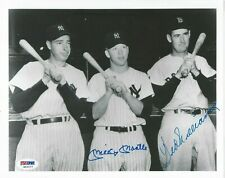 MICKEY MANTLE & TED WILLIAMS PSA/DNA CERTIFIED SIGNED 8X10 PHOTOGRAPH AUTOGRAPH.