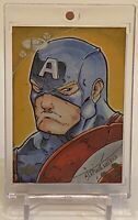 CAPTAIN AMERICA 2017 UPPER DECK MARVEL PREMIER ARTIST SKETCH AUTOGRAPH CARD 1/1!