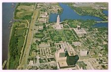 Louisiana State Capitol, Baton Rouge c1970 Mississippi River, business district