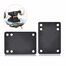 "2pcs 0.12""/3mm Soft Skateboard Riser Shock Pads Longboard Shock Pads Black NEW"