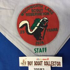 Boy Scout 1974 Woodworth Lake Scout Reservation Staff Neckerchief