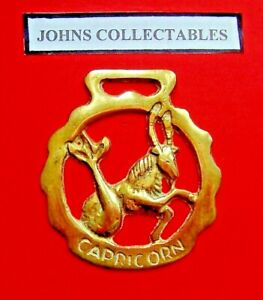 VINTAGE COLLECTABLE CAPRICORN STAR SIGN HORSE BRASS LOT YY