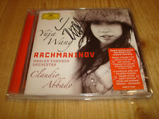 YUJA WANG Rachmaninov Piano Concerto #2 Paganini Rhapsody DGG CD Signed Signiert
