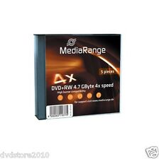 20 MediaRange DVD +RW 4,7 GB 4x Slim case rw Speed Gbyte Custodia MR449