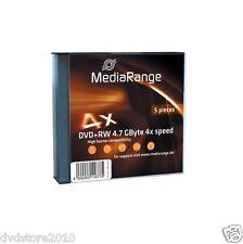47115 DVD RW MediaRange 4 7gb 5pcs Slimcase 4x-specialprice