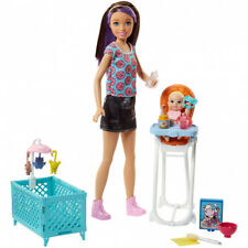 Barbie Babysitter Brunette Doll with Baby and a Highchair Playset