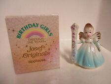 Vintage Josef Originals 1st Birthday, Angel Figurine, Girl Blue W/Original Box