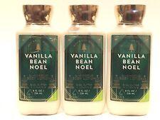 3 VANILLA BEAN NOEL BATH & BODY WORKS 24 HR MOISTURE BODY LOTION 8 OZ SHEA VIT E