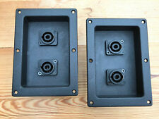Pair genuine TANNOY rear terminal speaker plates, Speakon, XLR 4mm