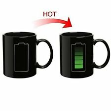 Magic Mug Battery Pattern Coffee Heat Cold Hot Temperature Sensitive Cup TB