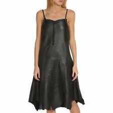 DIESEL BROOKS ABITO Womens Dresses Spaghetti Strap Genuine Leather Party Bodycon