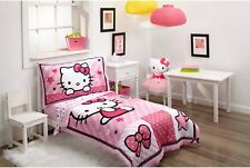 3-Pc Hello Kitty Toddler / Standard Baby Crib Girls Bedding Set w/ Pillow Case