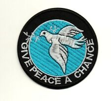 Give Peace A Chance Sign Hippie Hippy Boho Retro P1170 Iron on Patch Jacket Cap