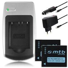 2x Batterie + Chargeur DMW-BCJ13 / BCJ13E pour Panasonic Lumix DMC-LX5, LX7