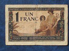 billet de 1 franc 1920 nice