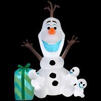 CHRISTMAS SANTA 6 FT FROZEN OLAF SNOWMAN SNOWGIES DISNEY AIRBLOWN INFLATABLE