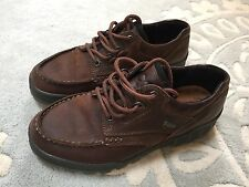 Men's ECCO Track II Low Brown Leather Boots Size US 6 EUR 40 GoreTex