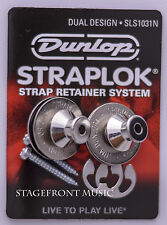 JIM DUNLOP STRAPLOCK - DUAL DESIGN STRAP LOCK. Nickel J103N - NEW