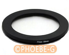 77mm to 58mm 77-58 mm Step Down Filter Ring  Adapter