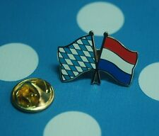 Freundschaftspin Bayern Niederlande Holland Pin Button