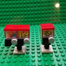 2 New lego Custom furniture candy gumball machine mini figure size food store
