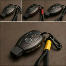 Fit For Mercedes Benz Remote 2/3 Buttons  Genuine Leather Car Key Case Cover Bag