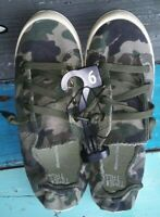 Time and Tru camouflage scrunchback slip-on athletic shoes girls' size 6 NEW
