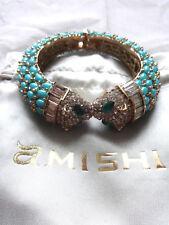 Amishi Diamante Turquoise Lion Cuff / Bangle - NEW