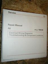 1998 AUDI A6 ORIGINAL FACTORY WIRING DIAGRAMS MANUAL SERVICE SHOP REPAIR
